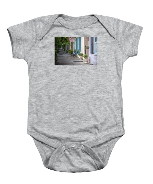 Strolling Down Rainbow Row Baby Onesie