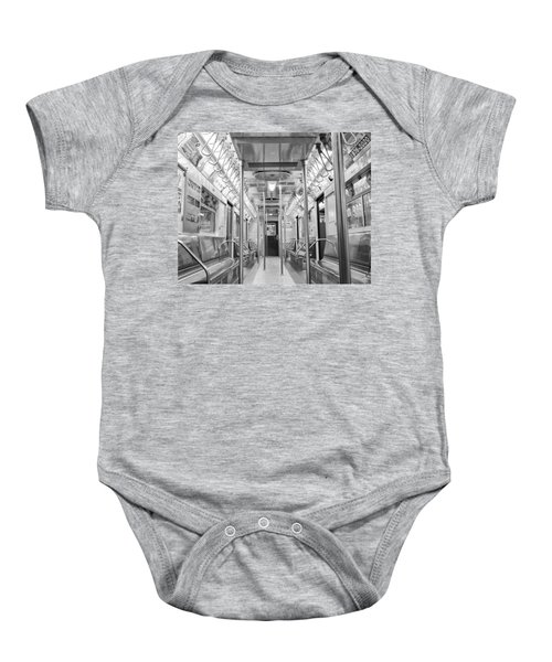 New York City - Subway Car Baby Onesie