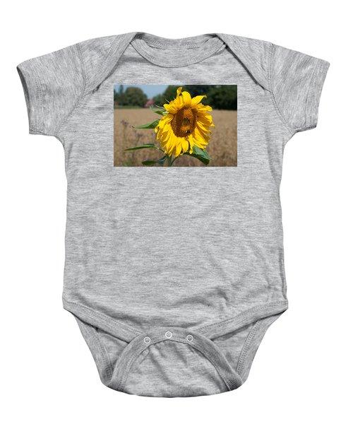 Sun Flower Fields Baby Onesie