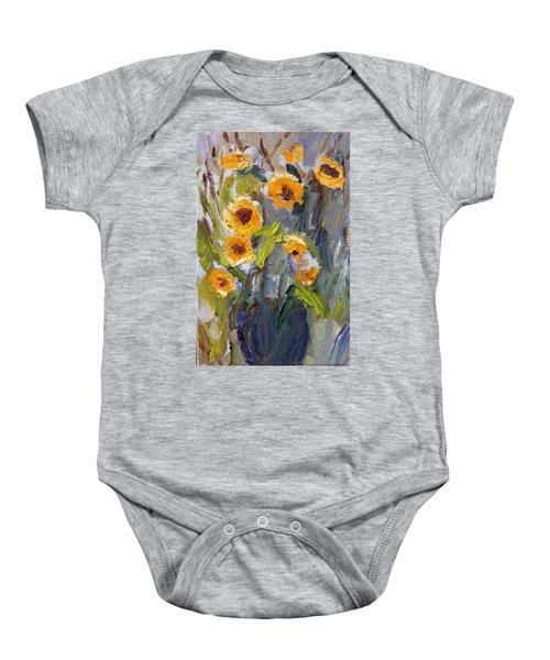 Sunflower Bouquet Baby Onesie