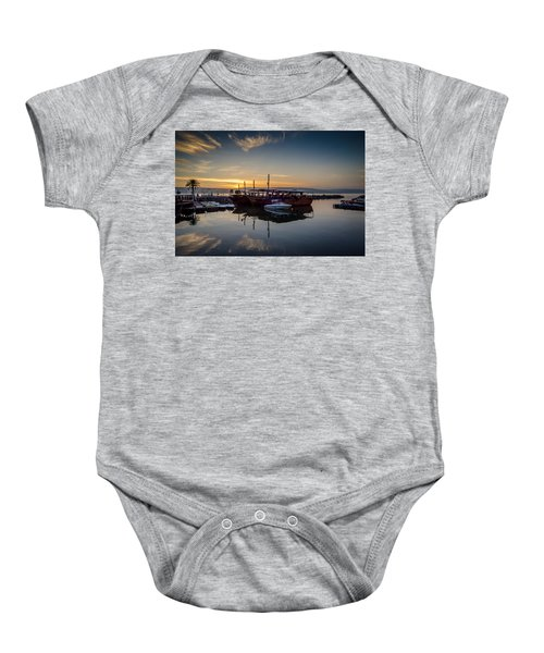 Sunrise Over The Sea Of Galilee Baby Onesie