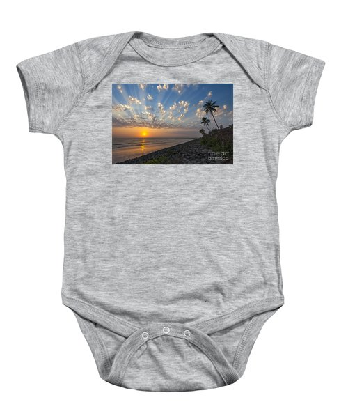 Sunset At Alibag, Alibag, 2007 Baby Onesie by Hitendra SINKAR