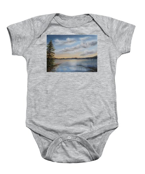 Sunset At Sparta Lake New Jersey Baby Onesie