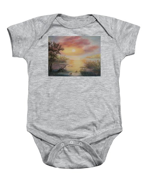 Sunset By The Lake Baby Onesie