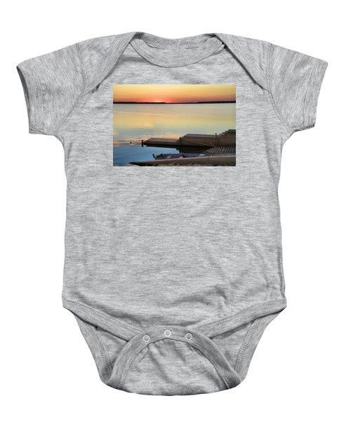 Sunset Fishing Baby Onesie