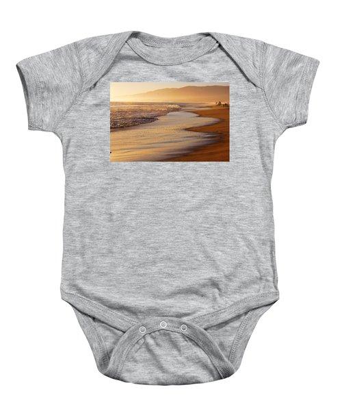 Sunset On A Beach Baby Onesie