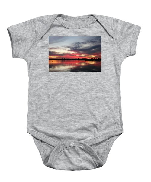 Sunset Over Mission Bay  Baby Onesie