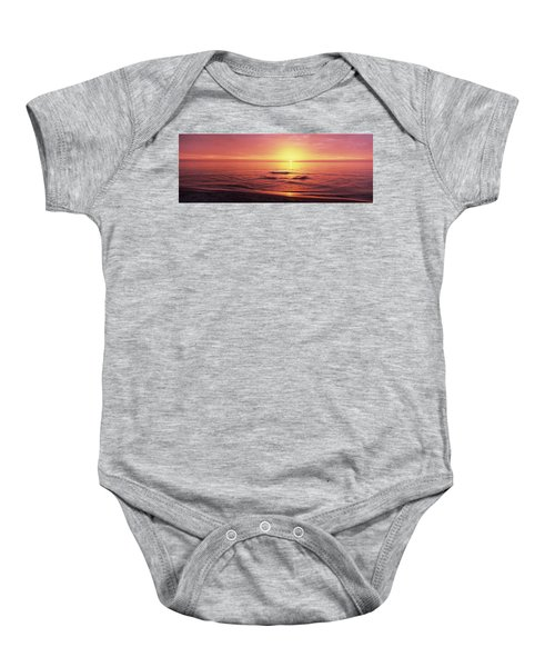 Sunset Over The Sea, Venice Beach Baby Onesie