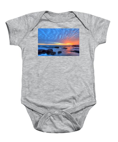 Sunset Reflections Newport Beach Baby Onesie