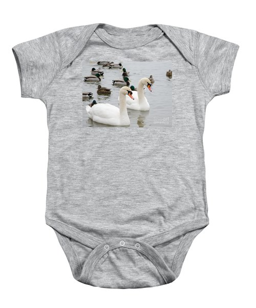 Swan Couple Baby Onesie