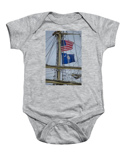 Tall Ships Flags Baby Onesie