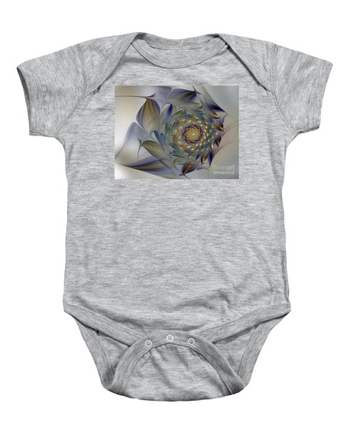 Tender Flowers Dream-fractal Art Baby Onesie
