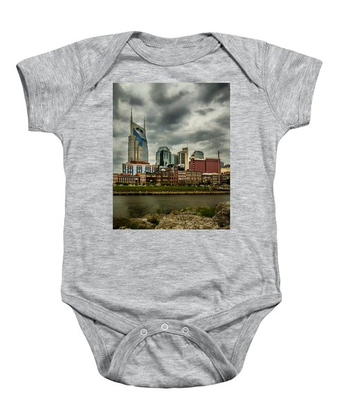 Tennessee - Nashville From Across The Cumberland River Baby Onesie