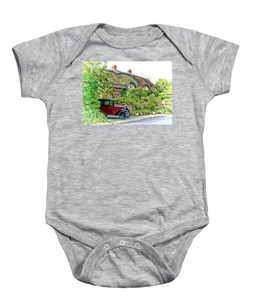 Thatched Cottages At Reybridge Baby Onesie