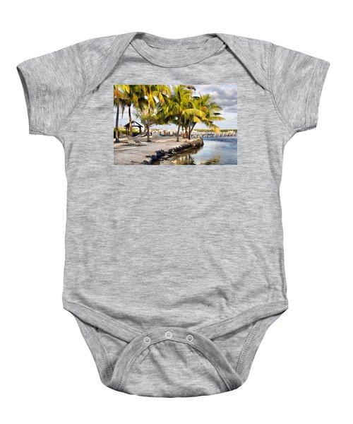 The Beach At Coconut Palm Inn Baby Onesie