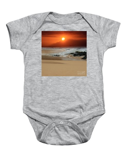 The Birth Of The Island Baby Onesie by Sharon Mau