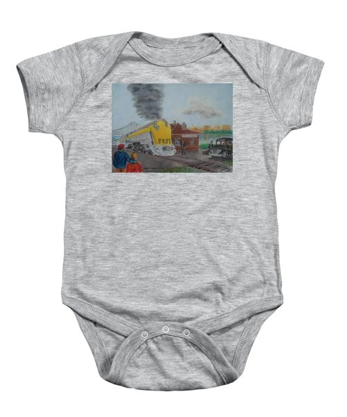 The Chesapeake And Ohio George Washington At South Portsmouth Station Baby Onesie