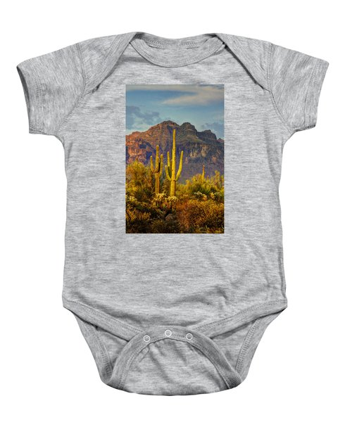 The Desert Golden Hour II  Baby Onesie
