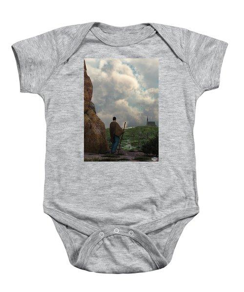 The Distant Chapel Baby Onesie