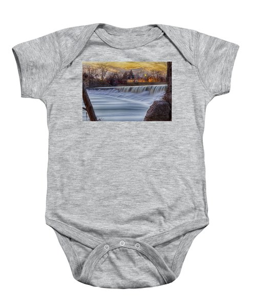 The Falls Of White River Baby Onesie