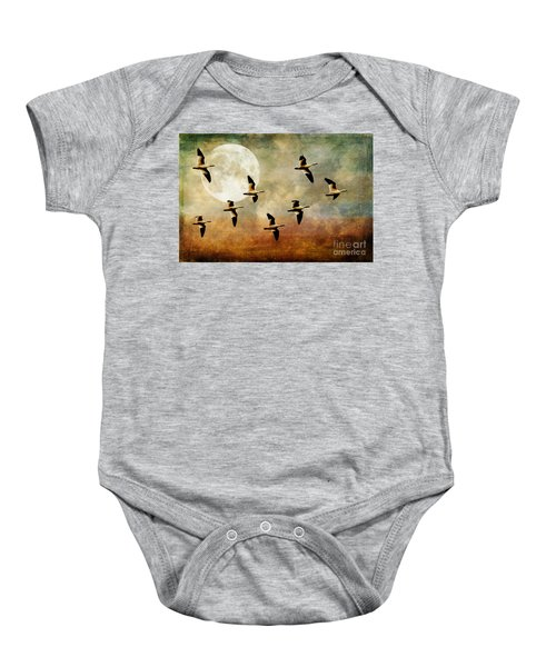 The Flight Of The Snow Geese Baby Onesie