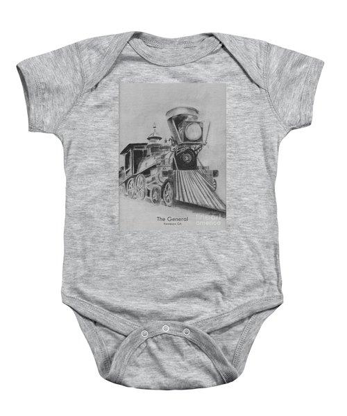 The General - Train - Big Shanty Kennesaw Ga Baby Onesie