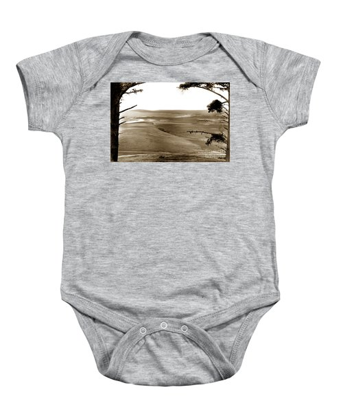 The Lagoon At The Mouth Of The Carmel River  From Fish Ranch California 1905 Baby Onesie