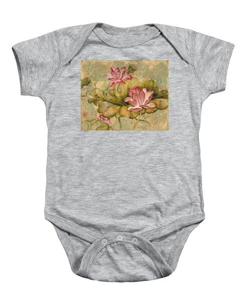 The Lotus Family Baby Onesie