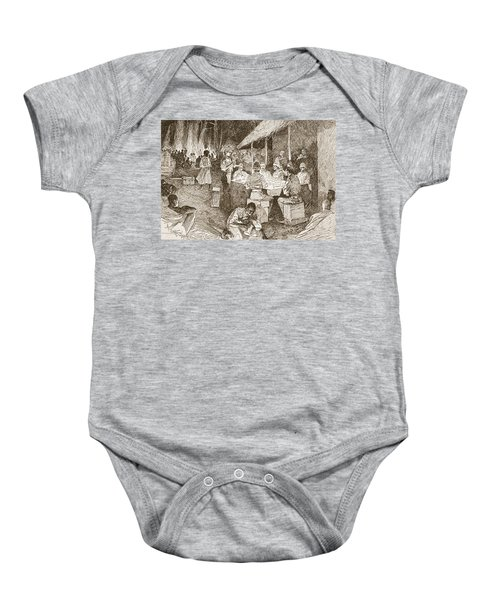 The Mess Table In The Forest Baby Onesie
