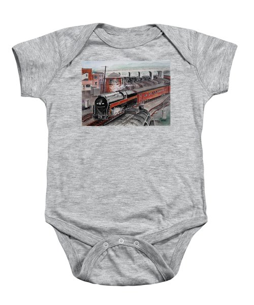 The Powhatan Arrow Roars Through The Yards Into Portmouth Baby Onesie