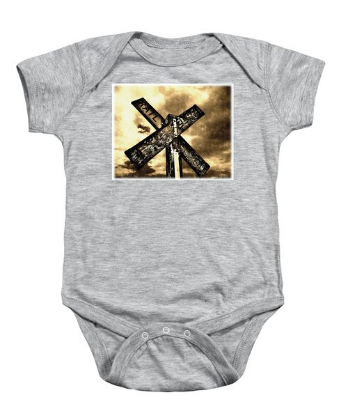 The Railroad Crossing Baby Onesie