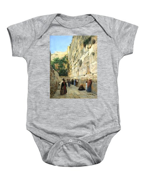 The Wailing Wall Jerusalem Baby Onesie