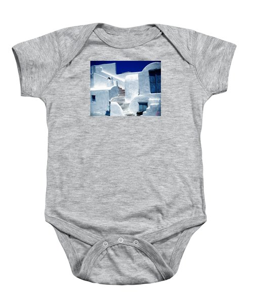 Baby Onesie featuring the photograph Thirasia Island Ancient House Near Santorini Greece by Colette V Hera  Guggenheim