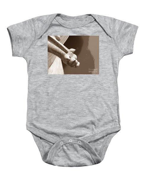 Thirsty Gargoyle - Sepia Baby Onesie