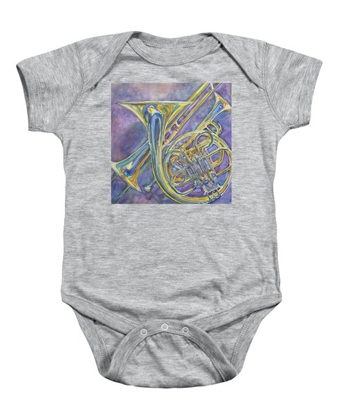 Three Horns Baby Onesie