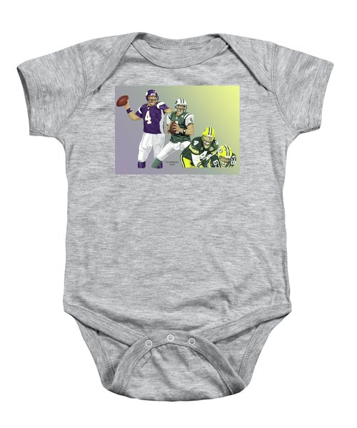 Three Stages Of Bret Favre Baby Onesie