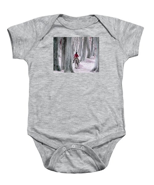 Through The Woods Baby Onesie
