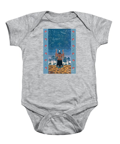 Baby Onesie featuring the painting Thunder Girl II by Chholing Taha