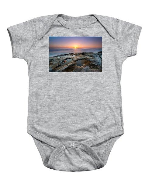 Tide Pool Sunset Baby Onesie