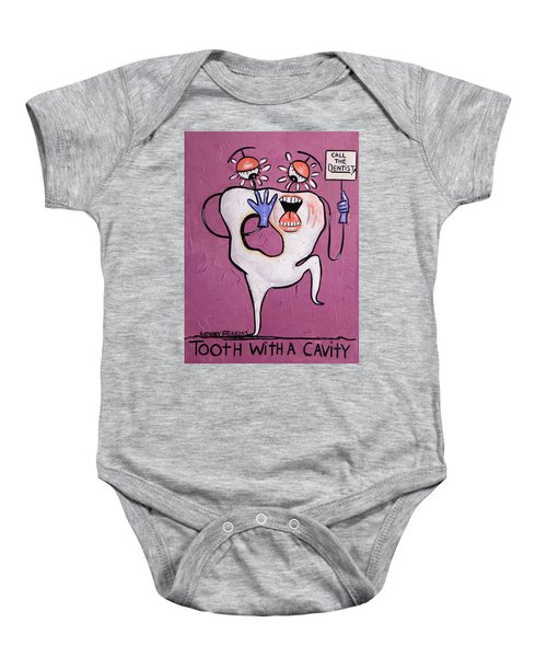 Tooth With A Cavity Dental Art By Anthony Falbo Baby Onesie