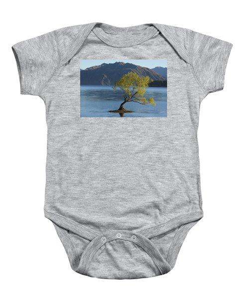 Tree In Lake Wanaka Baby Onesie
