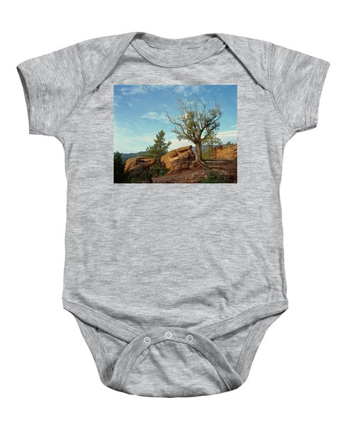 Tree In The Rocks Baby Onesie