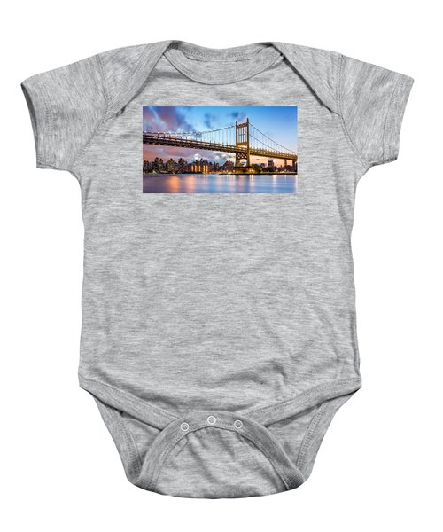 Triboro Bridge At Dusk Baby Onesie