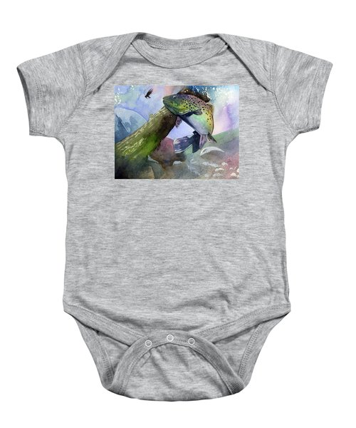 Trout And Fly Baby Onesie