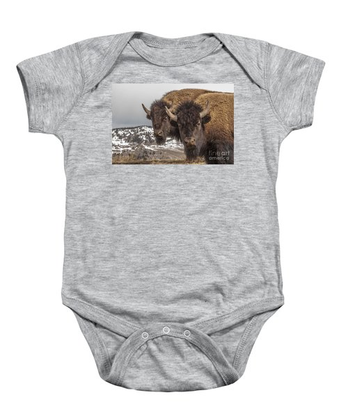 Two Bison Baby Onesie