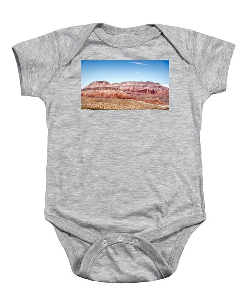 Two Layered Mountains Baby Onesie