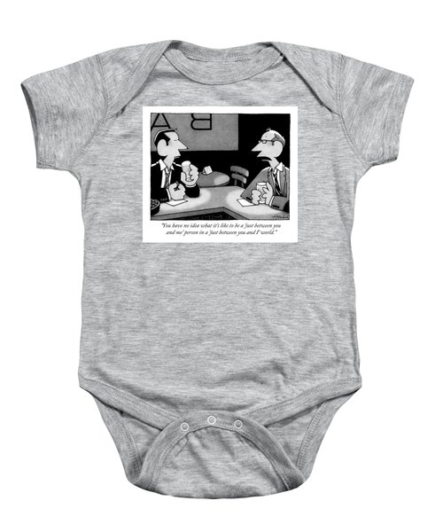 Two Men Are Seen Speaking At A Bar Baby Onesie