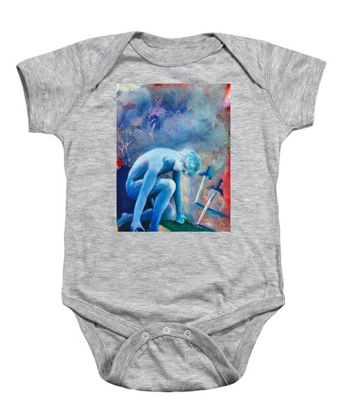 Two Of Swords Baby Onesie