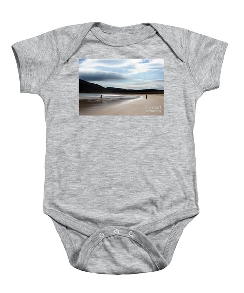 Two On A Beach Baby Onesie