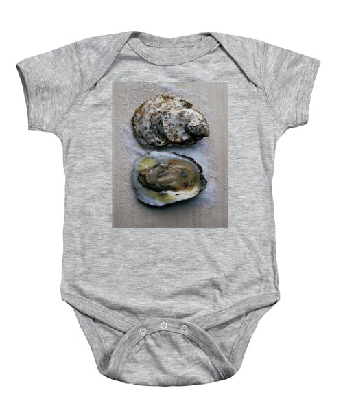 Two Oysters Baby Onesie